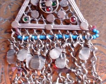 Kuchi triangle dangle chain pendant