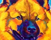 Chow Chow, Pet Portrait, DawgArt, Dog Art, Chow Chow Art, Original Painting, Pet Portrait Art, Colorful Dog Art, Chow Chow Painting