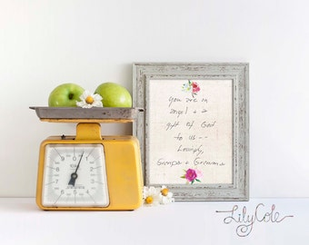 Custom Handwriting Personalized Handwriting Gift Memorial Gift Personalized Christmas Gift Gift for Best Friend Gift for Her LilyCole