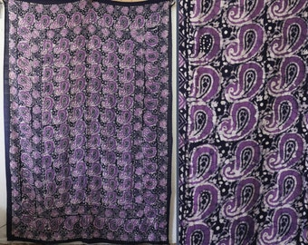 Indian cotton paisley bedspread
