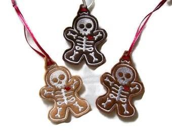 Skeleton Gingerbread Man Ornament