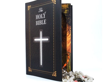 Hollow Book Safe -The Bible Large Secret Compartment Stash Book