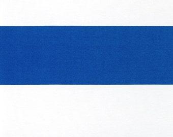 Cobalt Blue Striped Curtains. All Sizes. Royal Blue Thick Stripes Cabana. Custom Nursery Window Treatments.