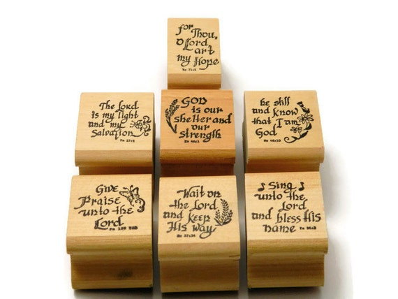 Bible verse stamps religious stamp set craft rubber stamps for Rubber stamps arts and crafts