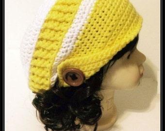 Crocheted Newsboy Slouchy Beanie!  Ready to Ship!