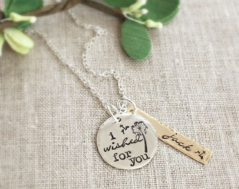 Personalized Necklace . Mothers Day . I Wished For You . Mother Necklace . Mommy Jewelry . Handmade Jewelry . Name . Personalized Gift