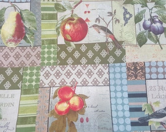Belle Jardin Fruit Gardens 100% Cotton Quilt Prints Fabric by the yard