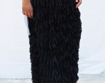 Waterfall Ruffle Maxi Skirt - Basic Colors - Misses - Made To Order - Couture - Elegant - Modest Clothing - Apostolic Clothing