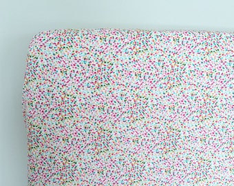 Fitted Crib Sheet - Baby Bedding in Confetti Dot