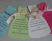 Will You be my Bridesmaid, Maid of Honor, Matron of Honor Card
