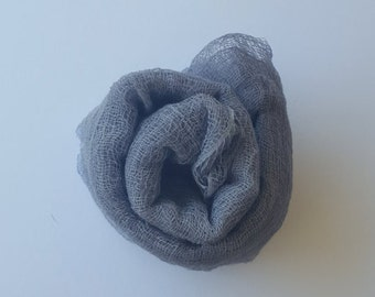 Grey Newborn Cheesecloth Hand Dyed Boy Girl Photo Prop Dyed Upon Order