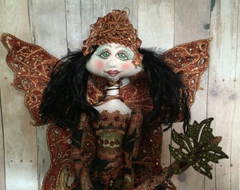 Fairy Art Doll/ Copper Beauty Fairy by Donner Cooper