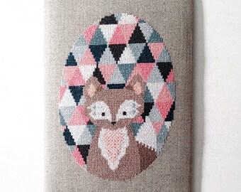 Pretty little Fox - modern cross stitch pattern - PDF instant download