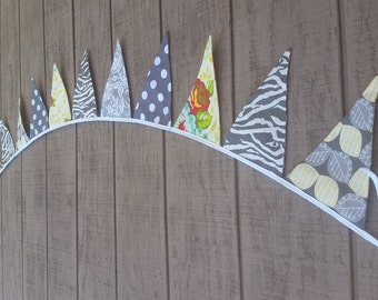 Banner Bunting - Gray and Yellow