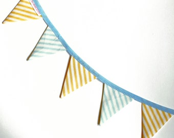 Beach Stripe - Very Mini Bunting by palicearker