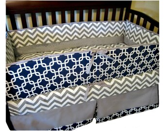 Baby bedding, Crib Bedding, Baby Boy Bedding, Navy, Gray, Geometric Baby crib Bedding, Boy Crib Bedding, Nursery Bedding, Modern baby