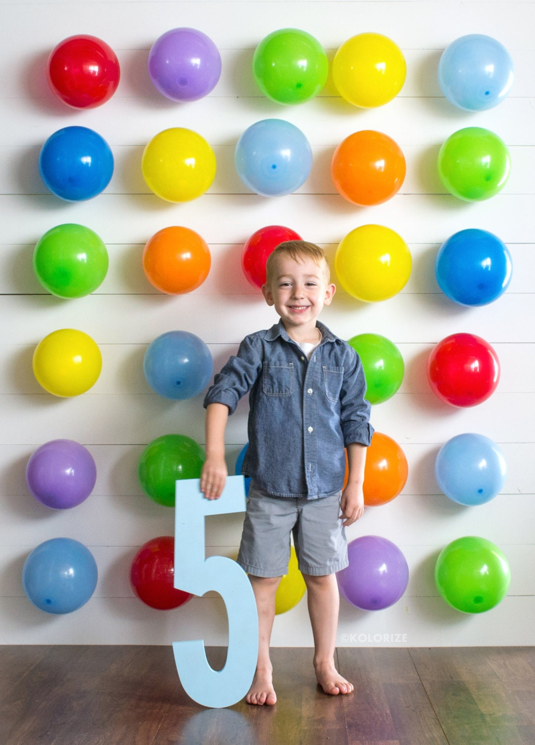 Baby Birthday Wall Decoration : Tall wood number cutout sign birthday photo
