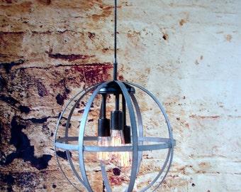 Industrial Lighting Chandelier with Edison Bulbs