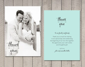 Thank You Wedding Gift Did Not Attend : Wedding Thank You CardsEtsy CA