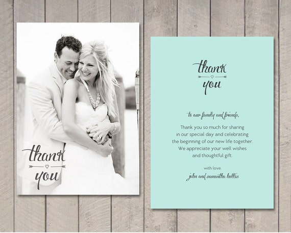 Wedding Gift Thank You Greetings : Wedding Thank You Card (Printable) by Vintage Sweet