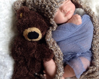 Bear hat, bear baby hat, Baby bear hat, crochet bear hat, brown bear hat, crochet bear hat,  woodland hat, animal hat,photography prop
