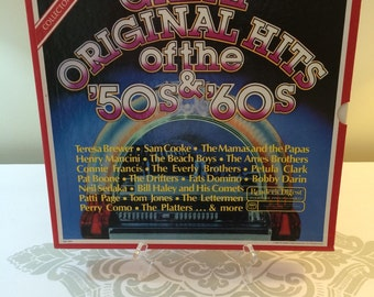 Vintage Album Set Great Original Hits of the '50s and '60s Reader's Digest Collection Seven Record Box Set Plus Booklet