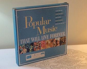 Popular Music The Will Live Forever Box Set from Reader's Digest 1961 Seven LP Record Collection Instrumental and Vocal