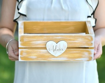 Rustic wedding cards/advice/programs box- custom your color!