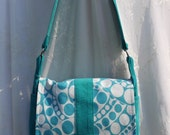 Teal Quilted Cross Body Not UPcycled Messenger Bag Again