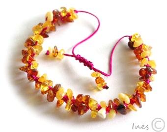 Baltic Amber Bracelet, Adjustable Bracelet