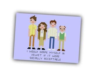 Seinfeld Pixel People Cross Stitch Pattern
