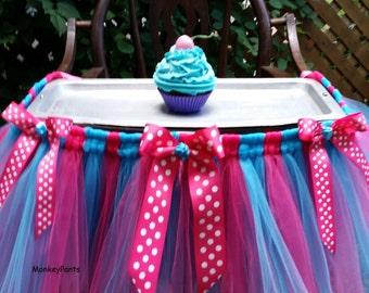High Chair Tutu Skirt - Cake Smash Tutu - High Chair Decoration