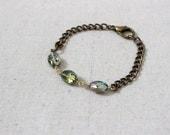 Crystal Bracelet, Chunky Chain Bracelet, Statement Bracelet