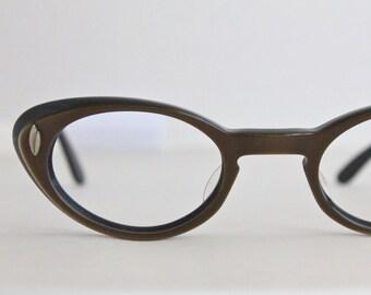 Vintage 50's Chocolate Cat Eye Eyeglasses Frames