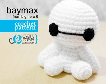 Baymax Crochet Pattern - Instant Download - Baymax from Big Hero 6 - amigurumi CROCHET PATTERN ONLY