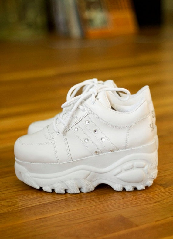 90s soda white chunky platform sneakers sz 8
