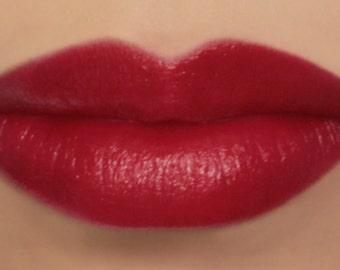 "Vegan Lipstick - ""Amaranth"" (bright pink toned red lipstick) natural lip tint, balm, lip colour mineral lipstick"