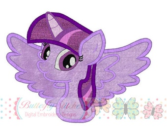 Twilight Sparkle Pony Machine Embroidery Applique Digital Design