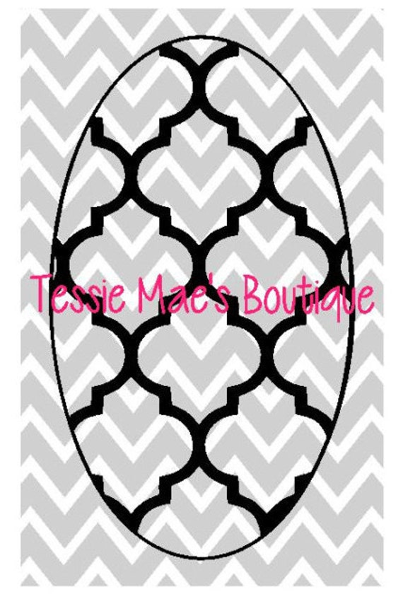 Elbow patch quatrefoil oval round digital instant download for Elbow patch template