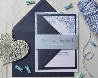 Wedding Invitation Suite - 'Eden' Wedding Stationery Invitation Set - Custom Invitation - Wedding Invitations - Floral Invitations