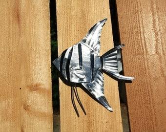 Metal Angelfish Wall hanging