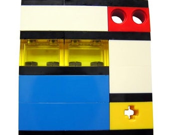 Collectible brooch pin  Model 1 - made from LEGO (R) bricks - MONDRIAN