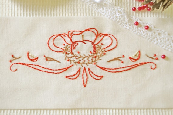 Redwork christmas embroidery pattern modern by