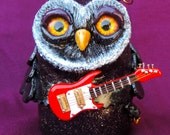 Owl with Electric Guitar