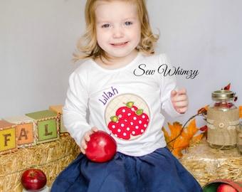 Apple shirt- Apple orchard shirt- Fall apple shirt- Girl's Autumn Shirt- Pumpkin Fall Shirt- Birthday Girl Shirt- Monogram Apple Shirt