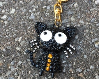 Black cat Keychain/ Haloween gift/ Haloween present/ Haloween decor/ Haloween party/Haloween Decorations