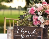 Thank You Sign, Wooden Thank You Sign, Thank you Photo Prop, Thank you Sign For Wedding, Calligraphy Wedding sign, Thank you Banner