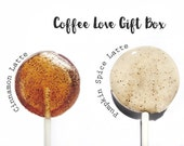 Coffee Lover Lollipop Gift Box // 20 Coffee Infused Lollipops  // 4 Coffee Flavors per Box // Coffee Lovers Dream Gift Box