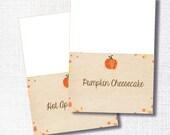 instant digital download: lil pumpkin food tent - fall shower food sign