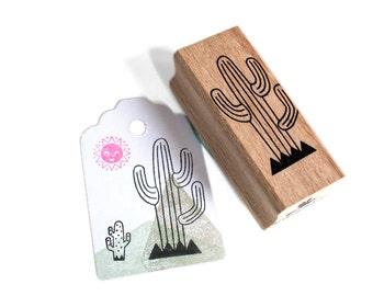 Cactus (lines) stamp - cactus rubber stamp - cactus ink stamp - diy cactus patern
